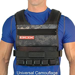 25 Lb BOX Weight Vest - Made in USA by WeightVest.com