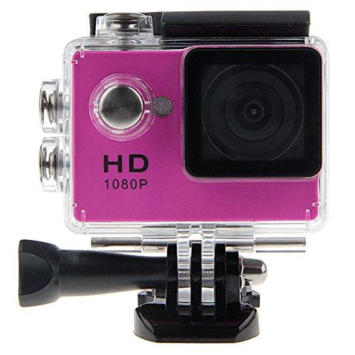 Padgene Full HD 1080P Sport Videokamera Camera Camcorder Action DVR Outdoor Wasserdichte Hülle (Magenta)