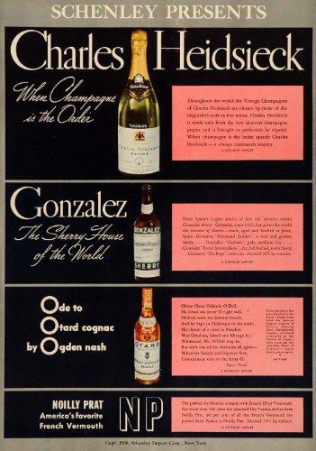 1936-ad-schenley-charles-heidsieck-gonzalez-otard-drink-original-print-ad