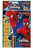 The Home Fusion Company - Lot Crayons de Couleur + Livre Coloriage Marvel Spider-Man...
