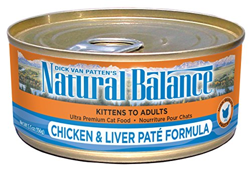 Natural Balance Chicken & Liver Paté Formula Wet Cat Food, 5.5-Ounce Can (Pack of 24) (Natural Balance Canned compare prices)