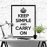 Keep Simple and Carry On ポスター (ホワイト) b2サイズ おしゃれ モノトーン