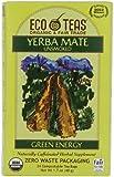 Eco Teas Organic Yerba Mate Unsmoked Green Energy, 24-Tea Bags