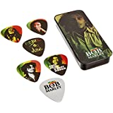 Dunlop BOBPT01M Bob Marley Rasta Pick Tin, Assorted, Medium, 6 Picks/Tin