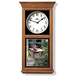 Cat Oak Regulator Wall Clock by Persis Clayton Weirs