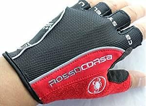 Amazon.com : Rosso Corsa Half Finger Cycling Gloves Scorpions Mountain