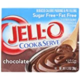 Jell-O Cook & Serve Pudding & Pie Filling, Sugar-Free, Fat Free, Chocolate, 1.3-Ounce Boxes (Pack of 24) ~ Jell-O