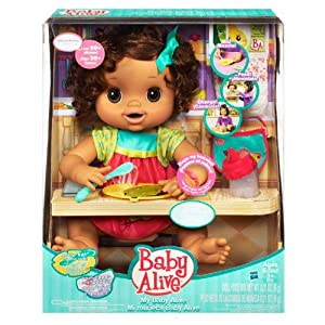 My Baby Alive Doll Brunette Amazon Co Uk Kitchen Amp Home