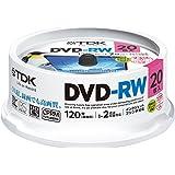 TDK 録画用DVD-RW デジタル放送録画対応(CPRM) 1-2倍速 インクジェットプリンタ対応(ホワイト・ワイド) 20枚スピンドル DRW120DPWA20PU