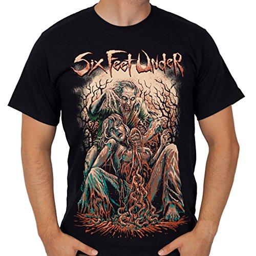 SIX FEET UNDER - Zombie - Men's T-Shirt M Black (Six Feet Under Tshirt compare prices)