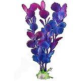 FACILLA® Plante Artificielle Bleu Violet En Plastique Décoration Aquarium