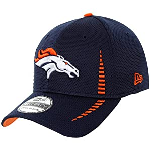 New Era Denver Broncos Training 39THIRTY Flex Hat Navy Blue by New Era