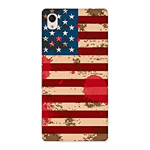 FROZEN VIBES Cool Grunge USA Flag Back Case Cover for Sony Xperia M4