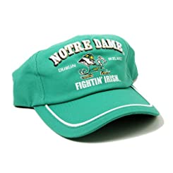 Lansdowne Mens Notre Dame Hat in Green - Baseball Cap