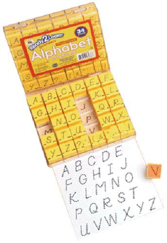 "Center Enterprise CE6836 READY2LEARN Uppercase Transitional Vis Cl Alphabet Stamps, 1"" (Pack of 34)"