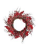 Decoracion Navideña Corona de Adviento Navidad Acebo