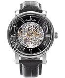 Lindberg&Sons Herren-Armbanduhr Analog Automatik Leder SK14H018