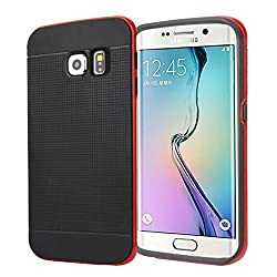 Galaxy S6 edge case AnoKe@ Armor Shock-absorbing TPU polycarbonate dual layer bumper Luxury case for Samsung Galaxy S6 edge (FIF ARMOR Rosy)