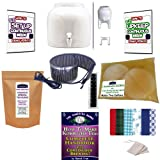 KKamp Continuous Brew Kombucha NO-FRILLS PACKAGE - White w/ Stand + Essential Heat Strip