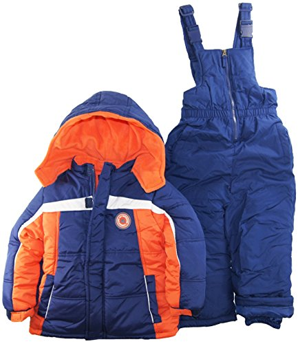 Ixtreme Little Boys 4-7 Color Block Two Piece Snowsuit Set, Navy, 5 front-856231