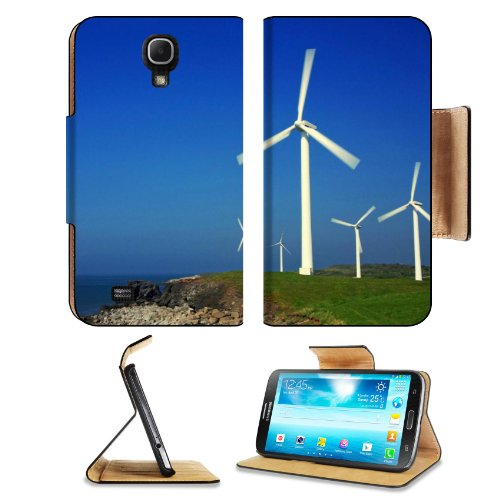 Ocean Windmills Generators Turbines Scenery Samsung Galaxy Mega 6.3 I9200 Flip Case Stand Magnetic Cover Open Ports Customized Made To Order Support Ready Premium Deluxe Pu Leather 7 1/16 Inch (171Mm) X 3 15/16 Inch (95Mm) X 9/16 Inch (14Mm) Msd Mega Cove