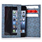 Kroo Bifold Tyvek Wallet with Smart Phone Compartment fits ZTE Fury Case - Blue Maze