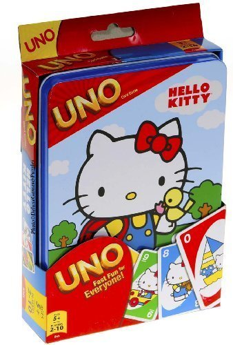 Hello Kitty-Gioco di carte UNO, in scatola di latta, colorati Collector's