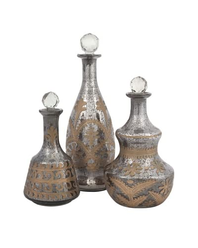 Set of 3 Acadia Glass Decanters