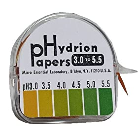 Hydrion Ph Paper Range 3.0 - 5.5 Single Roll Dispenser