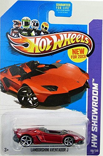 2013 Hot Wheels Hw Showroom 180/250 - Lamborghini Aventador J - Red - 1