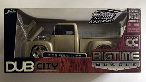 1956 Ford F-100 Pickup Truck Diecast Collectible Muscle Vehicle 1:24 Scale