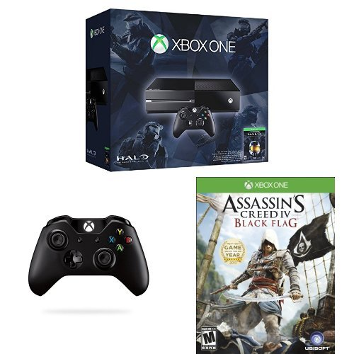Xbox One Halo: The Master Chief Collection 500GB with Second Controller and Assassin's Creed IV Black Flag Bundle