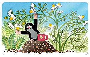 """Maulwurfshop 2601 Melamin Frühstücksbrettchen Brettchen """"Der Kleine Maulwurf"""" 23,5 x 14,5 cm Motiv Kamille"""