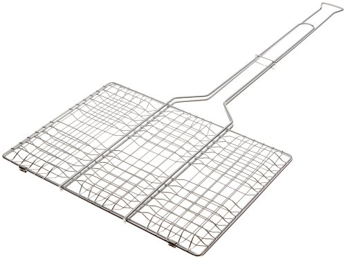 Rome's #64 9 Inch x 13 Inch Basket Hamburger Grill Basket, Chrome Plated Steel