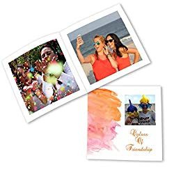 Clixicle Customized Best Friends Forever Flip Photo Book Album - Watercolor, 20 pages, 6in x 6in