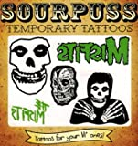 The Misfits 5-Pack Kids Temporary Tattoos from Sourpuss Clothing - 1 Sheet