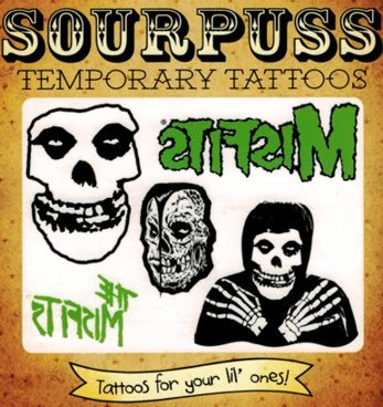 The Misfits 5-Pack Kids Temporary Tattoos from Sourpuss Clothing - 1 Sheet - 1