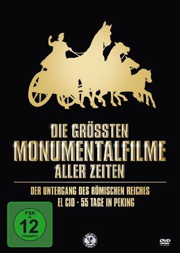 Die größten Monumentalfilme aller Zeiten (Der Untergang des römischen Reiches / El Cid / 55 Tage in Peking) [3 DVDs]