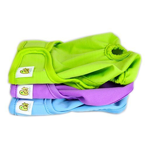 Bild von: Luxury Reusable Dog Diapers - Extra Small Durable Dog Wraps for both Male and Female Pets by Pet Magasin by Pet Magasin