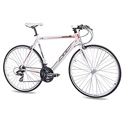 "28"" KCP ROAD RACING BIKE MARATHON ALLOY 21 Speed SHIMANO white 56cm (28 Inch) by KCP"