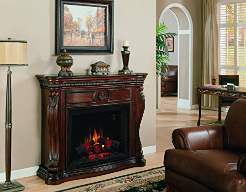 ClassicFlame 33WM881-C232 Lexington Wall Fireplace Mantel, Empire Cherry (Electric Fireplace sold separately) (Cherry Wood Electric Fireplace compare prices)