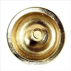 Round Hammered Undermount Bar / Prep Sink Finish: Brass