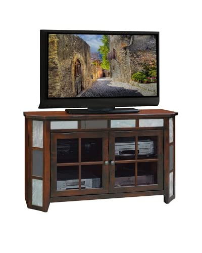 Legends Furniture Fire Creek 51″ Angled TV Console, Danish Cherry
