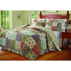 Blooming Prairie King Size 3-Piece Quilt Set -Multi/Jocobean