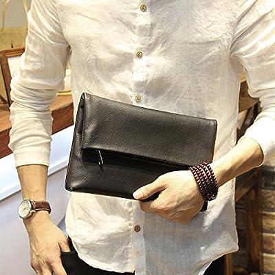 (ブライト ライン)bright line メンズ クラッチ バッグ PU レザー セカンドバッグ ビジネス カジュアル シンプル コンパクト ファッション レディース 黒