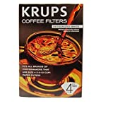 KRUPS 983 Natural White Paper Coffee Filters, 100-Count