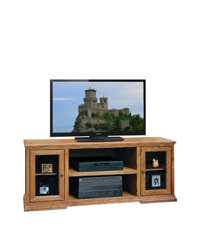 Legends Furniture Colonial Place 62″ TV Console, Golden Oak
