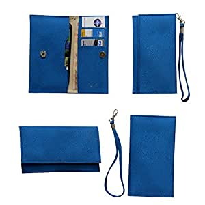 Jo Jo A5 G8 Leather Wallet Universal Pouch Cover Case For HTC Hero S Exotic Blue