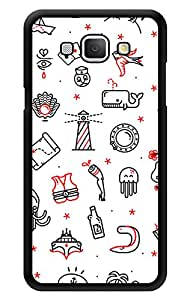 "Humor Gang Minimal Hand Drawn Print Printed Designer Mobile Back Cover For ""Samsung Galaxy A8"" (3D, Glossy, Premium Quality Snap On Case)"