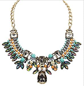 wave Plastic Snake Chain Collares Luxurious Shiny Necklace A1: Jewelry